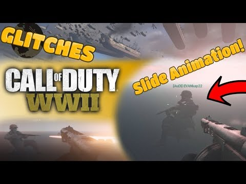 There's A Slide Animation In WW2!! + Random Bugs And Glitches (Call of Duty WWII)