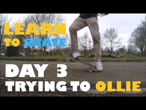 How To Ollie? - Learn To Skateboard Day 3 - 30 years old