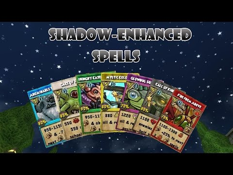 Wizard101: ALL Shadow-Enhanced Spells
