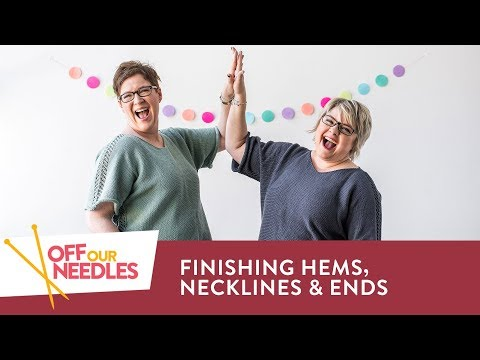 T-shirt Finishing Tips: Hems, Necklines & Weaving in Ends | NOVEL-T KNIT ALONG Off Our Needles S4E8