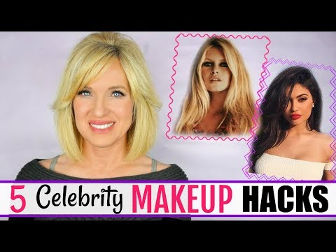 5 Celebrity MAKEUP HACKS! (Kylie Jenner, Brigitte Bardot + Marilyn Monroe)