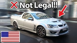 6 Cars Banned In America!! :(