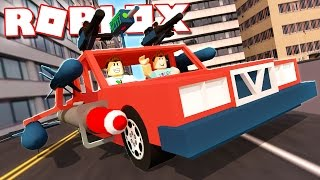 SURVIVE A CAR WITH ROCKETS AND GUNS IN ROBLOX!