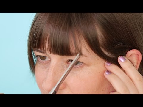 How to Cut Your Own Bangs: Straight Bangs