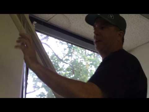 Removing blind from window - Standard Bracket