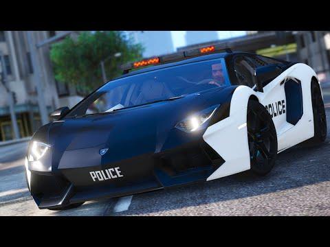 Police Lamborghini Aventador GTA 5 Car Mod
