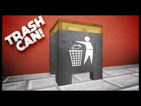 Minecraft - How To Make A Working Trash Can