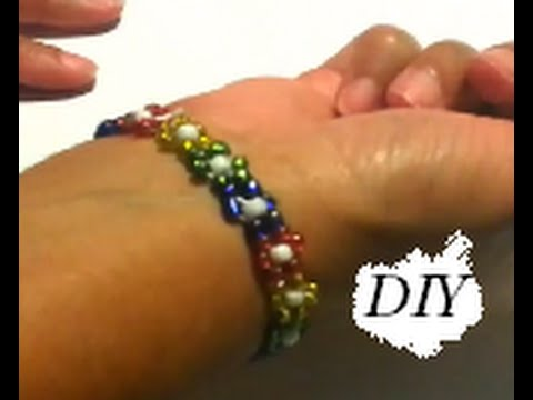 {DIY} Daisy Stretch Bracelet
