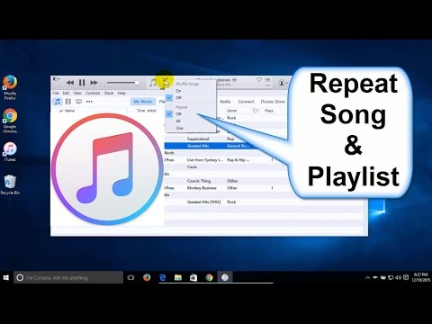 iTunes Tips: How to repeat Songs, Music & Playlists - iTunes tutorial - iTunes Music Beginners Help!
