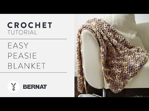 How to Crochet Easy Peasie Blanket