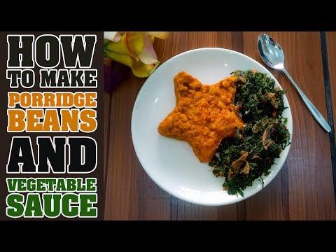 How To Make Porridge Beans & Vegetable Sauce | HEALTHY NIGERIAN BREAKFAST