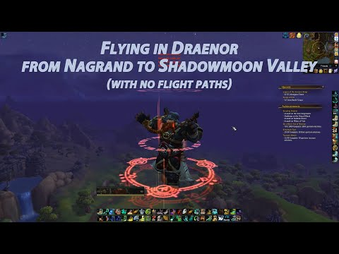 Flying from Nagrand to Shadowmoon Valley (with no flight points)