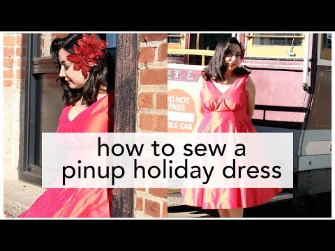The Little Red Dress Project, Butterick B5603 Pinup Holiday Dress!   Vintage on Tap