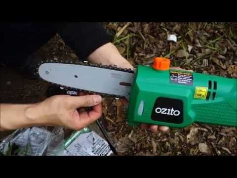 How to cut a branch without a ladder 2: Ozito electric pole chainsaw pruner review