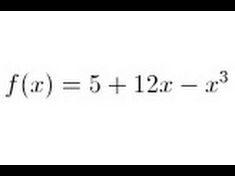 Calculus - Slope, Concavity, Max, Min, and Inflection Point (3 of 4) 3nd Order Equation