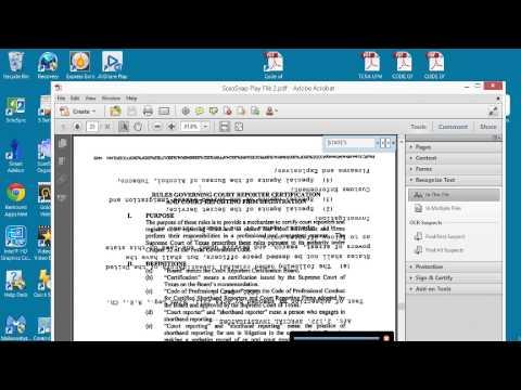 ScanSnap and Adobe Acrobat Standard X