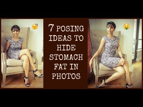 7 effective POSING IDEAS to HIDE STOMACH FAT in photos/ LOOK THINNER HACKS