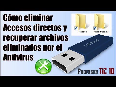 Cómo eliminar accesos directos y recuperar archivos ocultos de un Pendrive