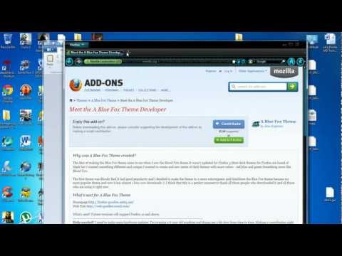 How to download and install Mozilla firefox theme/backround *2012 tutorial*