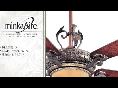 Minka Aire F705 Napoli 56 Inch Ceiling Fan With Light Kit
