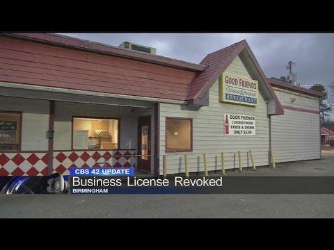 Good Friends restaurant's business license revoked