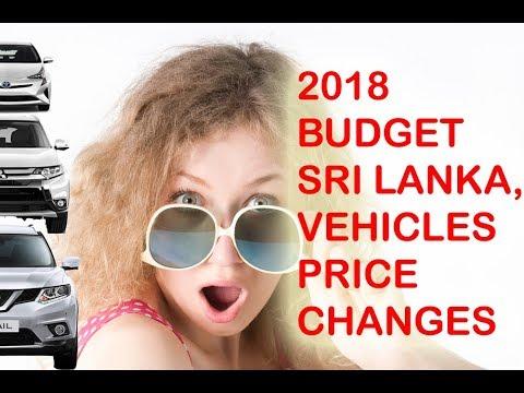 Budget 2018 Sri Lanka Vehicle Tax