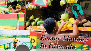 ExploreGrenada -Easter Monday in Grenada🇬🇩 Grand Etang lake + Levera beach(fight on bathway beach)