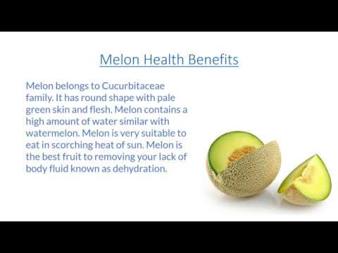 Melon Benefits, Melon Nutrition Facts, Melon Health Benefits