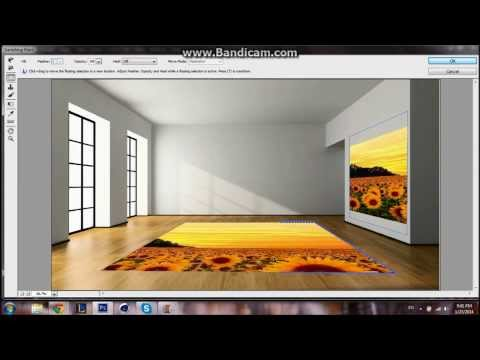How to put a photo on a wall in Photoshop