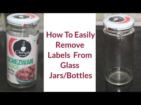 How to Remove Labels from  Glass Jars & Bottles-Simple and Easy Method -Reebz World