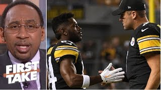 Stephen A. takes issue with Ben Roethlisberger not being criticized like Antonio Brown | First Take