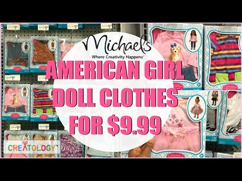 $10 AMERICAN GIRL DOLL CLOTHES! SHOPPING VLOG Michaels. Episode 7