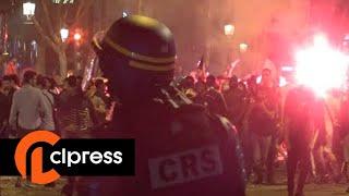 Mondial 2018 : Violents incidents sur les Champs Elysées après la fête (10 juillet 2018, Paris)