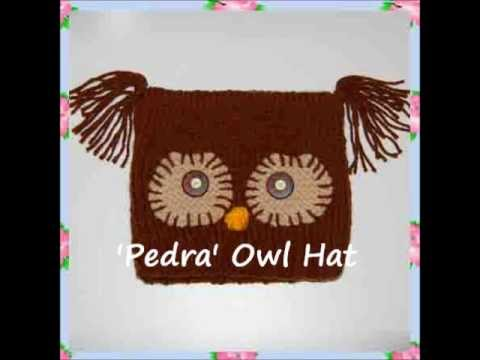 Pedr Owl Bird Chunky Yarn Beanie Ski Hat Children Ladies