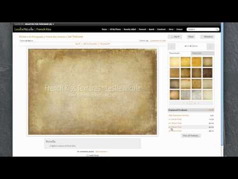 Using Zenfolio To Purchase French Kiss Textures