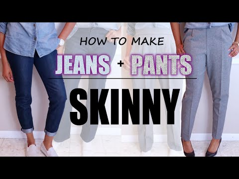 HOW TO MAKE JEANS & PANTS SKINNY | DIY Sewing | BlueprintDIY