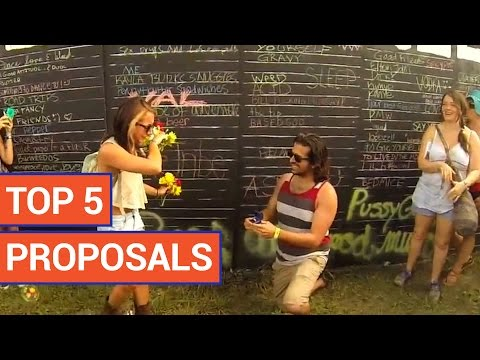 Top 5 Wedding Proposals | Sweet Compilation