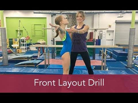 Gymnastics How To: Front Layout Drill