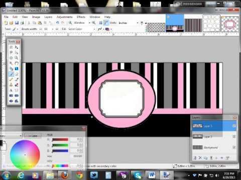 Tutorial - Make a Facebook Timeline Cover in Paint Net pt 3