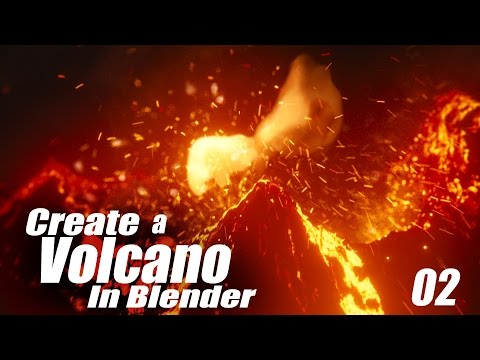 Create a Volcano Eruption in Blender - 02 : Fluid & Smoke