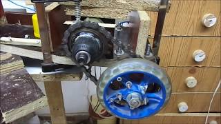Drill motor hack and gear for e scooter or e bike