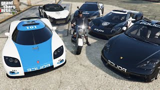 GTA 5 - Stealing Luxury Police Cars with Trevor! | Trevor Becomes Police (Real Life Cars #87)