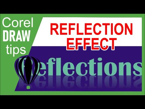 Creating text reflection in CorelDraw