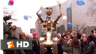 Short Circuit 2 (1988) - Golden Johnny Five Scene (10/10) | Movieclips