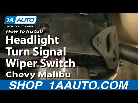 How To Install Replace Headlight Turn Signal Wiper Switch Chevy Malibu 97-03 1AAuto.com