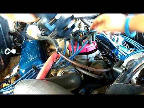 How to replace distributor cap and rotor 78 Ford f100