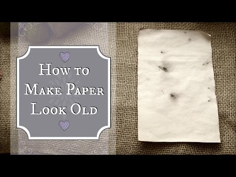 How to Age Paper using Tea or Coffee | Antiquing Paper in 5 Minutes or Less!