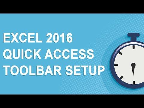 Excel 2016 Quick Access Toolbar Setup (2017)