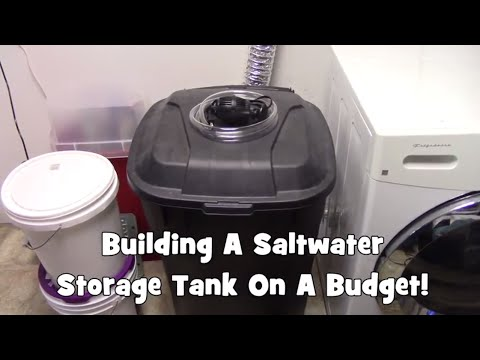 Building A Saltwater Storage Tank On A Budget!