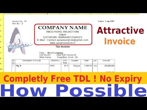 Invoice Customization Free TDL | Print Attractively your company name & Address in Tally